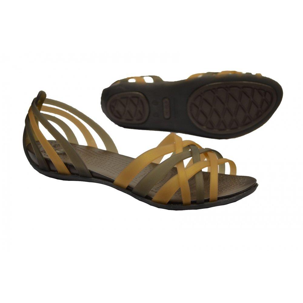 5511479aa79bf Crocs Crocs Huarache Flat Espresso / Bronze (UX1) Womens Sandal ...