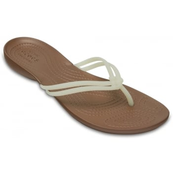 Crocs Isabella Off White / Bronze (U1) 204004-1AO Womens Flips