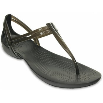 Crocs Isabella T-Strap Black (UX-7) 202467-001 Womens Sandals
