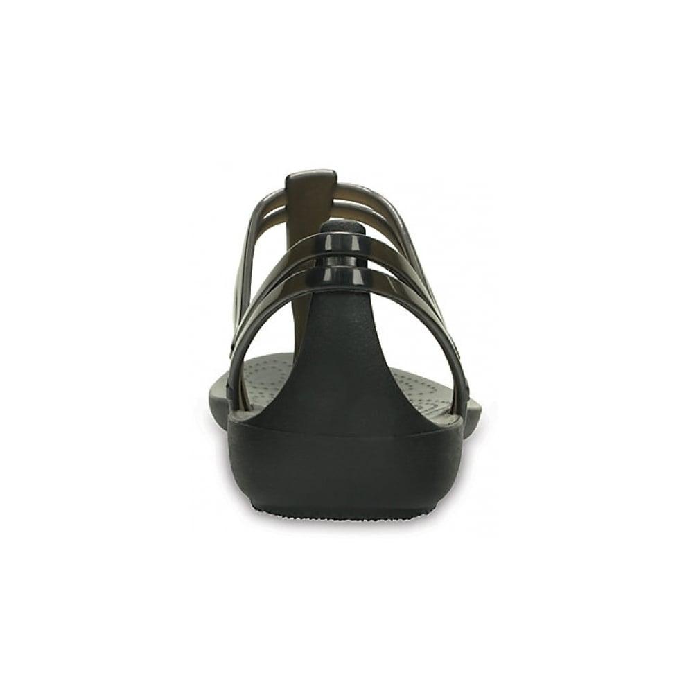 Crocs Crocs Isabella T-Strap Black (UX-7) 202467-001 Womens Sandals ... baf9bbe21