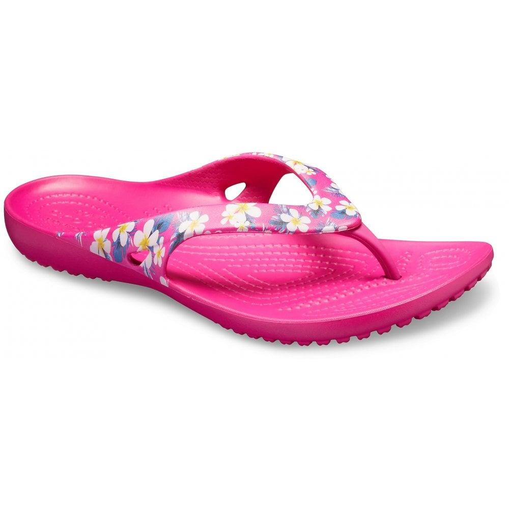 1b4a5a748f8be Crocs Kadee II Seasonal Flip Floral / Candy Pink (U1) 205635-92L Womens ...
