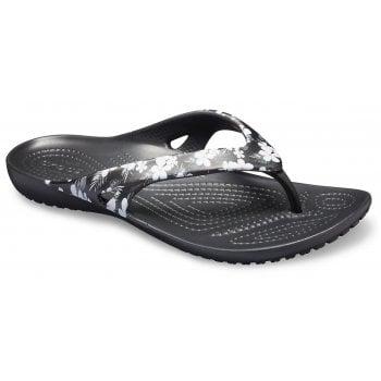 Crocs Kadee II Seasonal Flip Tropical Floral / Black  (Z13) 205635-98F Womens Flip Flop