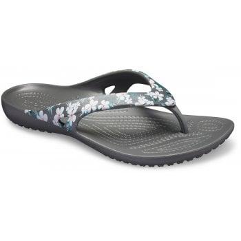 Crocs Kadee II Seasonal Flip Tropical Floral / Slate Grey (UX4) 205635-98G Womens Flip Flop