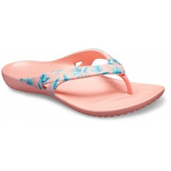 Crocs Kadee II Seasonal Flip Tropical / Melon (U2) 205635-98J Womens Flip Flop