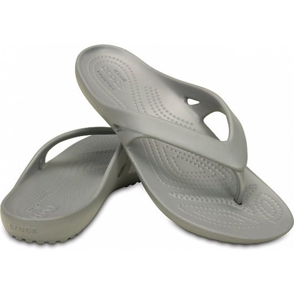 crocs crocs kadee ii silver u1 202492 040 womens flip. Black Bedroom Furniture Sets. Home Design Ideas