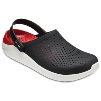 Crocs Literide Black / White (UX9) 204592-066 Mens Clogs