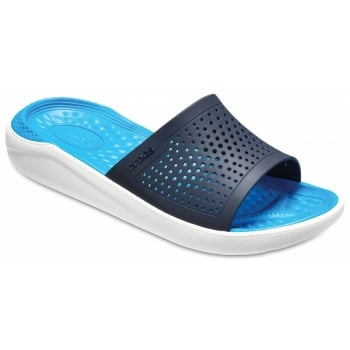 Crocs Literide Slide Navy / White (UX5) 205183-462 Mens Clogs