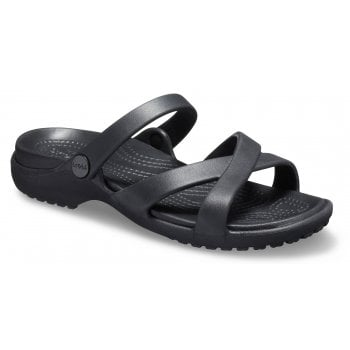 Crocs Meleen Crossband Black (UX5) 205472-001 Ladies Sandal