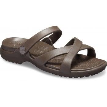 Crocs Meleen Crossband Espresso (UX1) 205472-206 Ladies Sandal