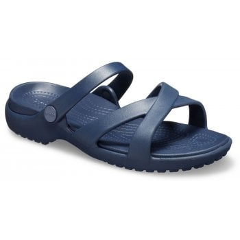 Crocs Meleen Crossband Navy (U1) 205472-410 Ladies Sandal
