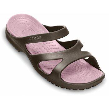 Crocs Meleen Espresso / Petal Pink (U1) 11853-28M Ladies Sandal
