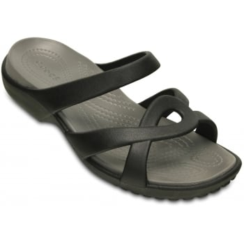 Crocs Meleen Twist  Black / Smoke (UX5) 202497-05M Ladies Sandal