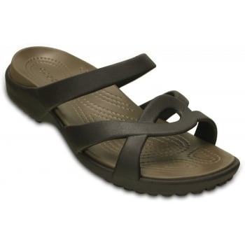 Crocs Meleen Twist Espresso / Walnut (UX9) 202497-23B Ladies Sandal