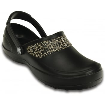 Crocs Mercy Black / Gold (UX5) 10876-072 Womens Work Clogs All Sizes