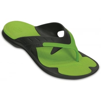 Crocs Modi Sport Graphite / Volt Green (UX4) 202636-0A1 Mens Flips