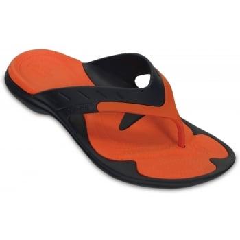 Crocs Modi Sport Navy / Tangerine (UX1) 202636-4V9 Mens Flips