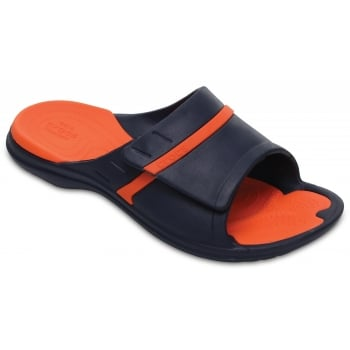 Crocs Modi Sport Slide Navy / Tangerine (UX9) 204144-4V9 Unisex Slipper