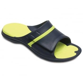 Crocs Modi Sport Slide Navy / Tennis Ball Green (Z26) 204144-4G0 Unisex Slipper