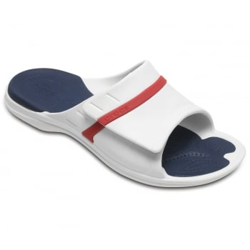 Crocs Modi Sport Slide White / Navy / Pepper (Z17) 204144-1C3 Unisex Slipper