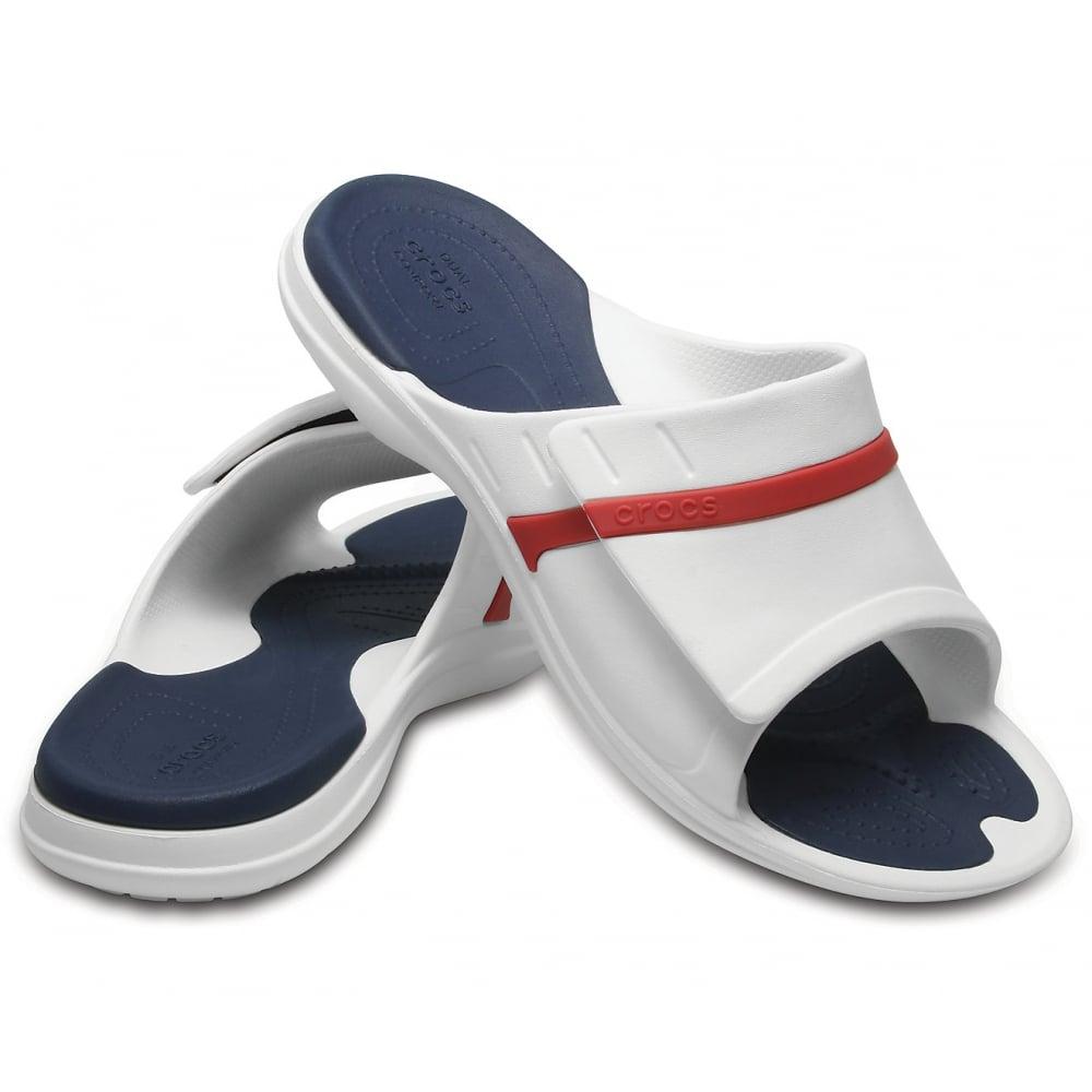6675c28e1724 ... Crocs Modi Sport Slide White   Navy   Pepper (Z17) 204144-1C3 Unisex ...