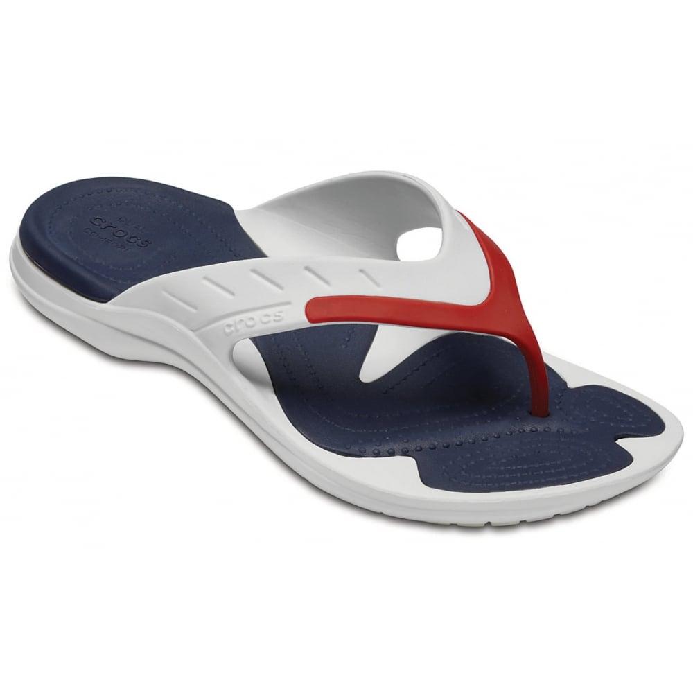 01dbba3efe1779 Crocs Crocs Modi Sport White   Navy   Pepper (U2) 202636-1C3 Mens ...