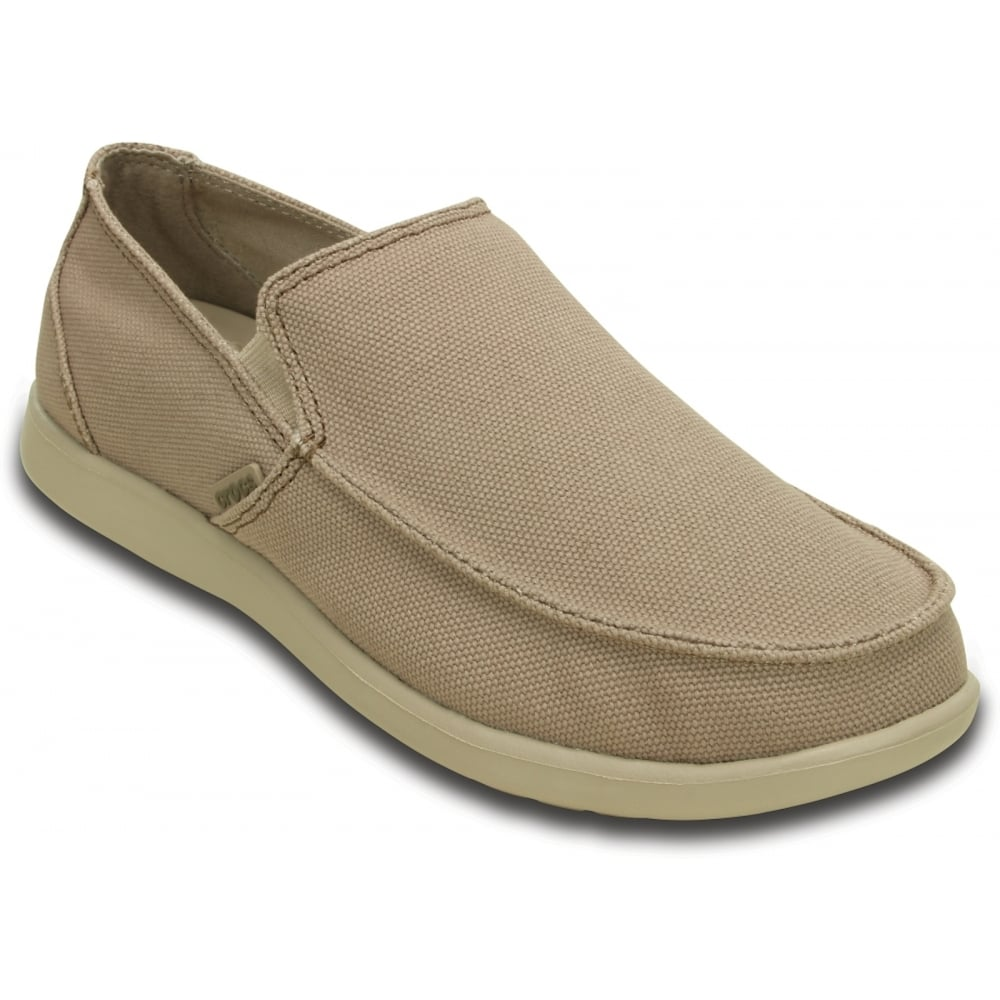 Mens Crocs Santa Cruz Clean Cut Loafer Loafers Khaki/Cobblestone UXB98184