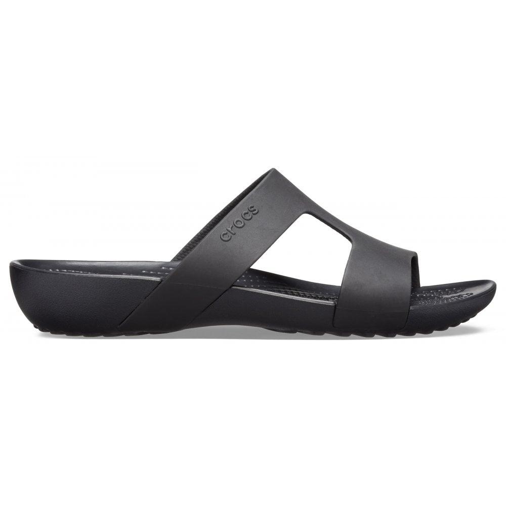 cfeb0f9fb9a3 ... Crocs Serena Slide W Black   Black (UX6) 205675-060 Ladies Sandal ...