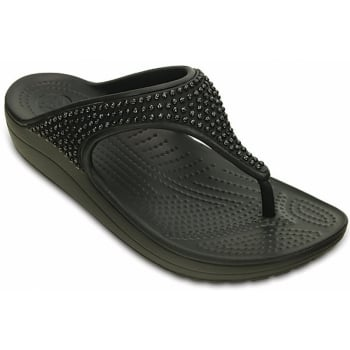 Crocs Sloane Diamante Black (UX6) 203128-001 Womens Flips