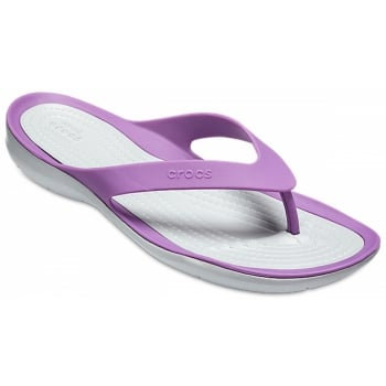 Crocs Swiftwater Amethyst / Light Grey (Z23) 204974-5F8 Womens Flips
