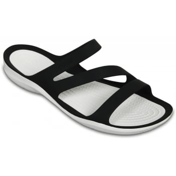 Crocs Swiftwater Black / White (UX8) 203998-066 Womens Sandals