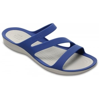 Crocs Swiftwater Blue Jean / Pearl White (Z17) 203998-4HP Womens Sandals