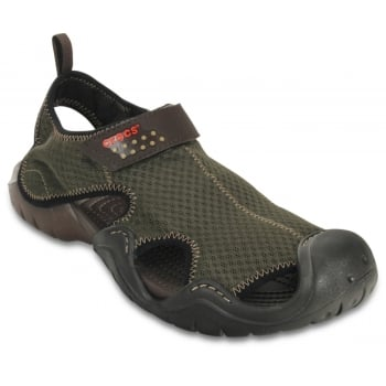 Crocs Swiftwater Espresso / Espresso (U1) 15041-22Z Mens Sandals