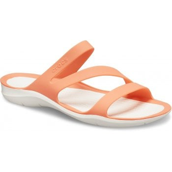 Crocs Swiftwater Grapefruit / White (Z102) 203998-82Q Womens Sandals