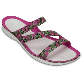 Crocs Swiftwater Graphic Pink / Floral (Z16) 204461-6JL Womens Sandals