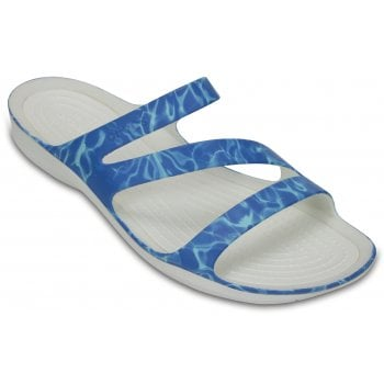 Crocs Swiftwater Graphic Water / White (Z100) 204461-43E Womens Sandals