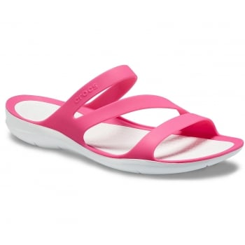 Crocs Swiftwater Paradise Pink / White (Z19) 203998-6NR Womens Sandals