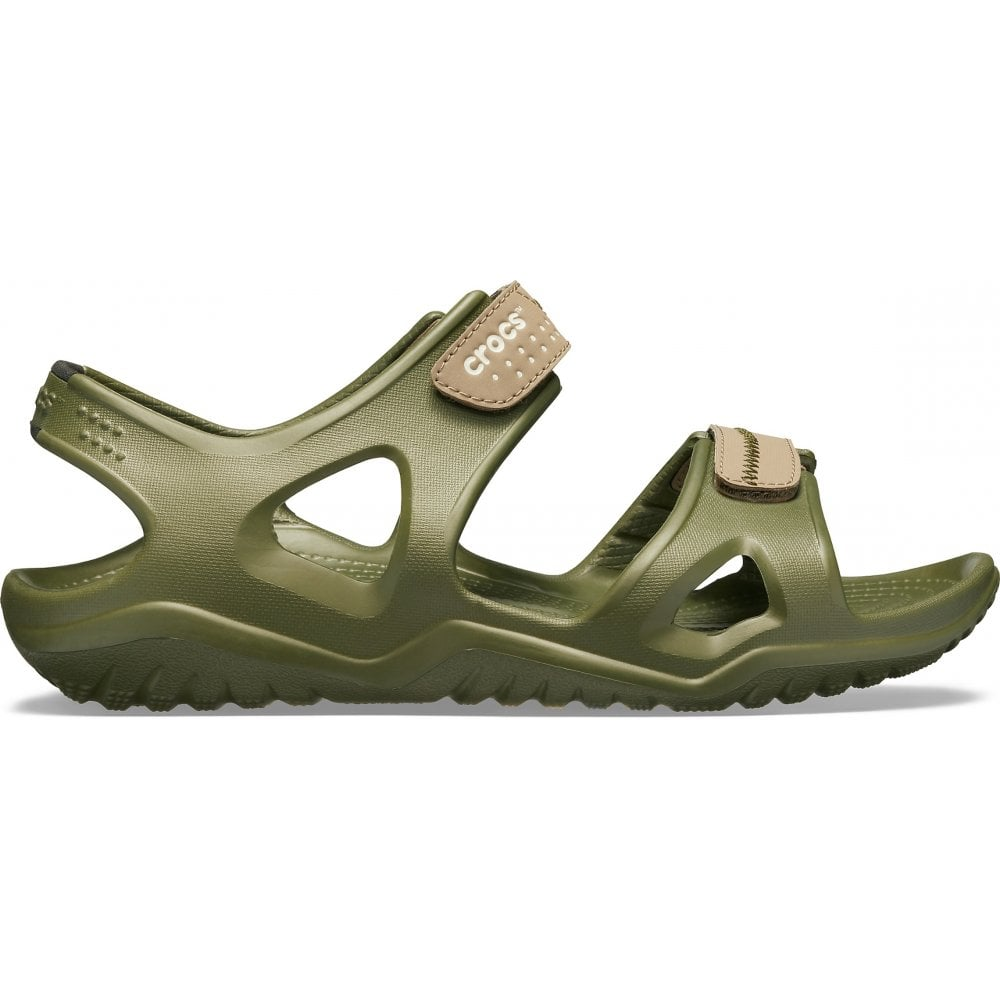 56b27503fd3b Crocs Crocs Swiftwater River Army Green   Khaki (U2) 203965-345 Mens ...