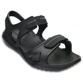 Crocs Swiftwater River Black / Black (UX2) 203965-060 Mens Sandals