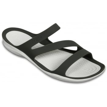 Crocs Swiftwater Smoke / White (UX 3) 203998-06X Womens Sandals