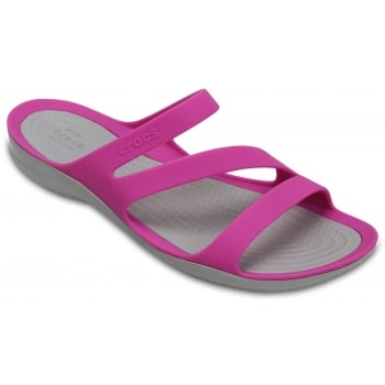 Crocs Swiftwater Vibrant Violet (UX 5) 203998-59L Womens Sandals
