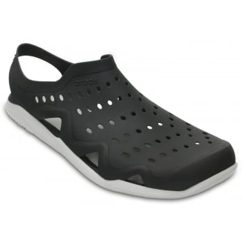 Crocs Swiftwater Wave Black / Pearl White (UX7) 203963-069 Mens Sandals