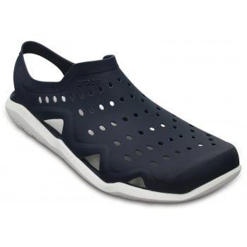 Crocs Swiftwater Wave Navy / White (Ux1) 203963-462 Mens Sandals