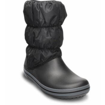 Crocs Winter Puff / Snow Black / Charcoal (U1) Womens Boots