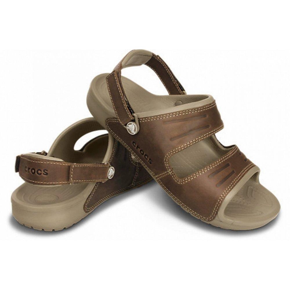 ae19758bb116 ... Crocs Yukon 2 Strap Khaki   Espresso (UX2) 14325-23G Mens Sandals ...