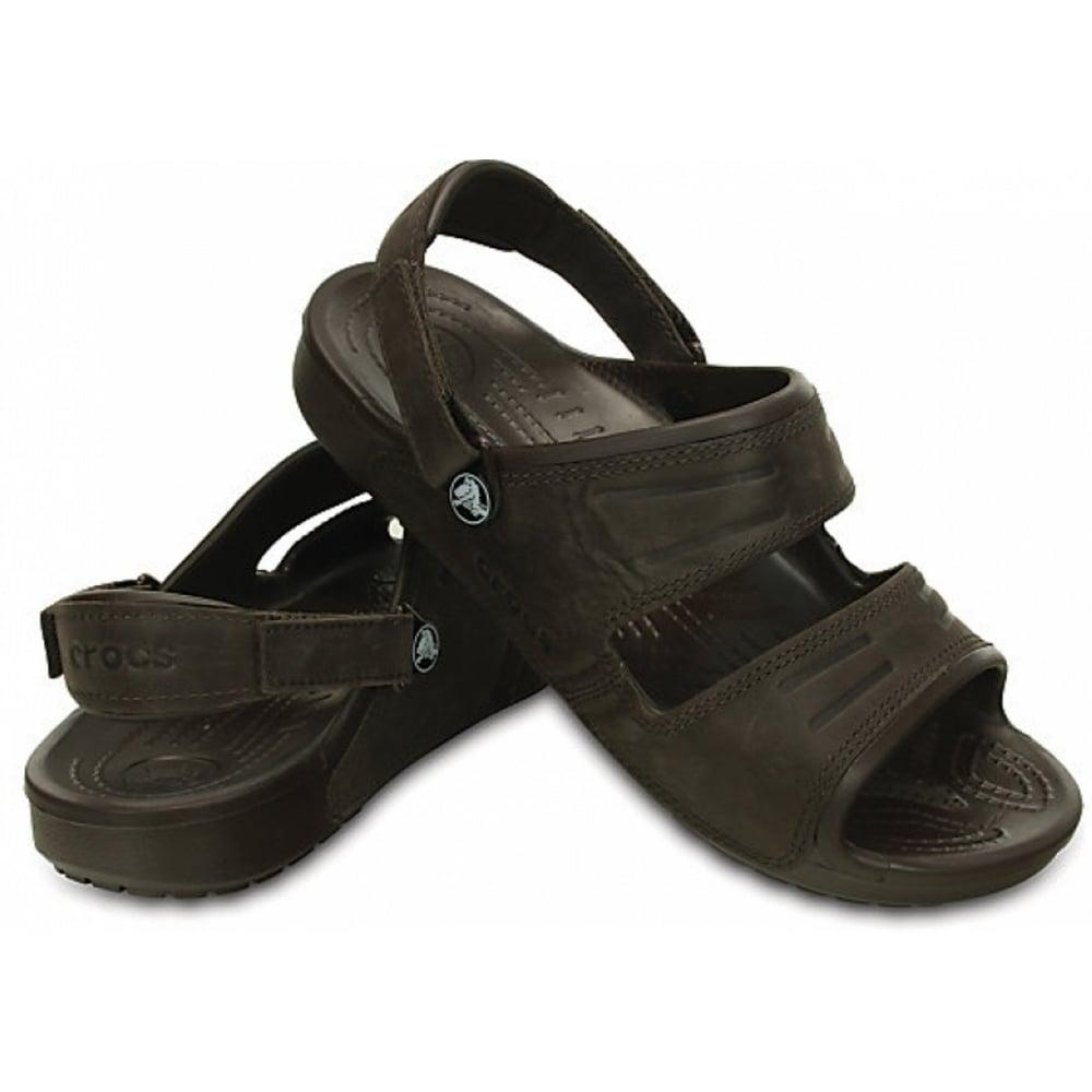 48f0c2399533 Crocs Crocs Yukon 2 Strap Mahogany (UX6) 14325-2L3 Mens Sandals ...