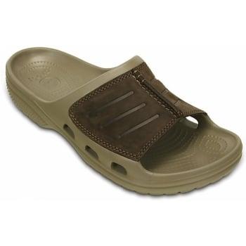 Crocs Yukon Mesa Slide Khaki / Espresso (U-2) 203294-23G Mens Clogs