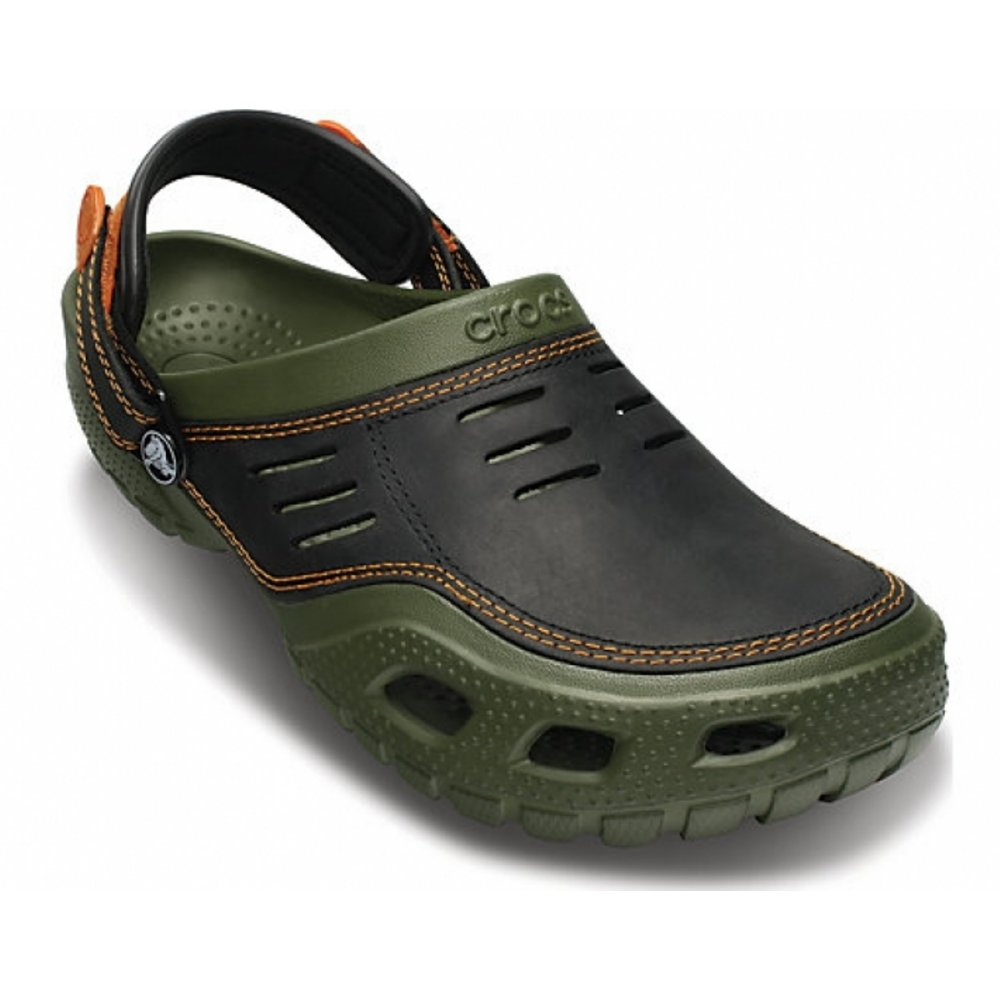 dd24f785b73f4 Crocs Crocs Yukon Sport Army Green / Black (U2) 10931-30Q Mens Clogs ...