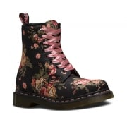 Dr Martens 1460 - 8 Hole Eyelet Victorian Flowers Black (N106) 11821016 Ladies Boots