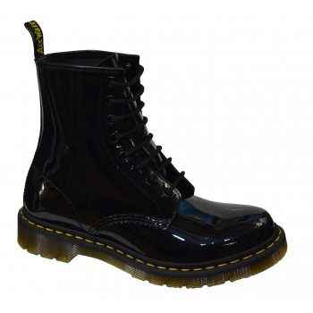 Dr Martens 1460 Patent Lamper Black (N47) Womens Boots