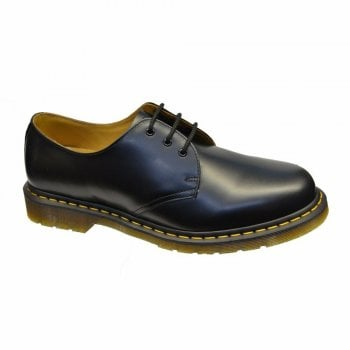 Dr Martens 1461 Black (11838002) with Yellow Stitching 3 Eyelet (C3) Mens Shoes